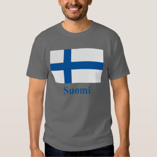 Finland Flag with Name in Finnish Shirts