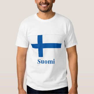Finland Flag with Name in Finnish T Shirt