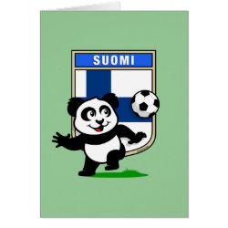 Greeting Card with Finland Football Panda design