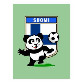 Finland Football Panda Postcard