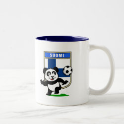Two-Tone Mug with Finland Football Panda design