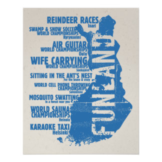 Finland Funland List 2 Colossal Poster/Print