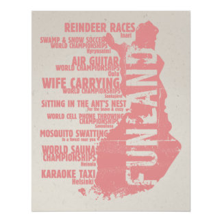 Finland Funland List 5 Colossal Poster/Print