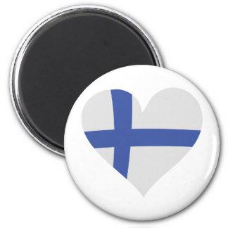 Finland heart icon 2 inch round magnet