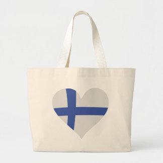 Finland heart icon tote bag