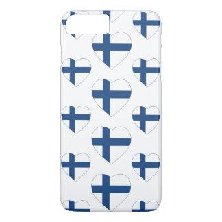 FINLAND HEART SHAPE FLAG iPhone 8 PLUS/7 PLUS CASE