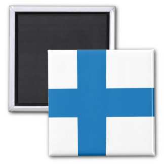 Finland High quality Flag 2 Inch Square Magnet