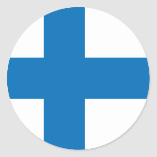Finland High quality Flag Classic Round Sticker