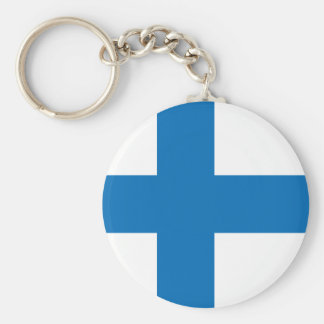 Finland High quality Flag Keychain