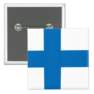 Finland High quality Flag Pinback Button