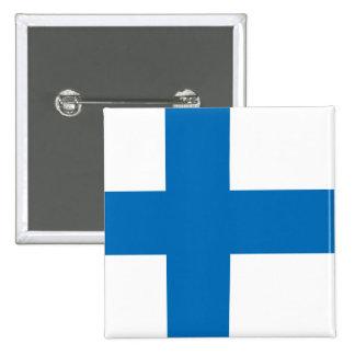 Finland High quality Flag Pinback Button