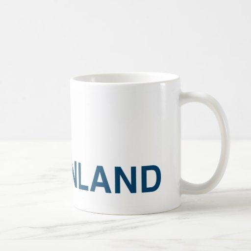 Finland kuma-chan classic white coffee mug