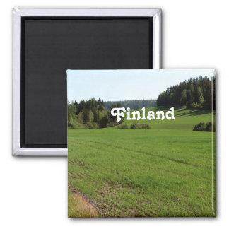 Finland Landscape 2 Inch Square Magnet