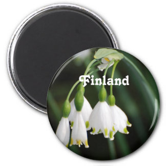 Finland Lily of the Valley 2 Inch Round Magnet