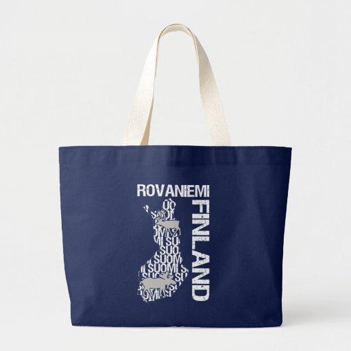 FINLAND MAP bag - Rovaniemi - choose style