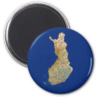 Finland Map Magnet