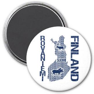 FINLAND MAP magnet - Rovaniemi