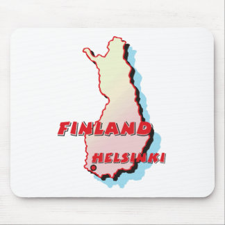 Finland Map Mouse Pad
