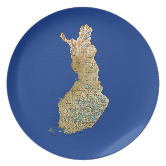 Finland Map Plate