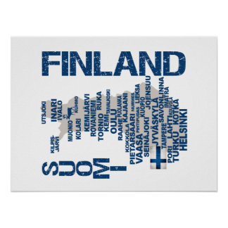 FINLAND MAP poster