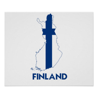 FINLAND MAP PRINT
