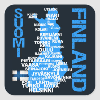 FINLAND MAP stickers