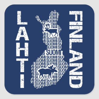 FINLAND MAP stickers - Lahti
