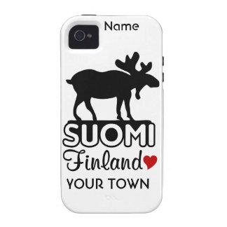 Finland Moose custom iPhone 4 Case-Mate iPhone 4/4S Case