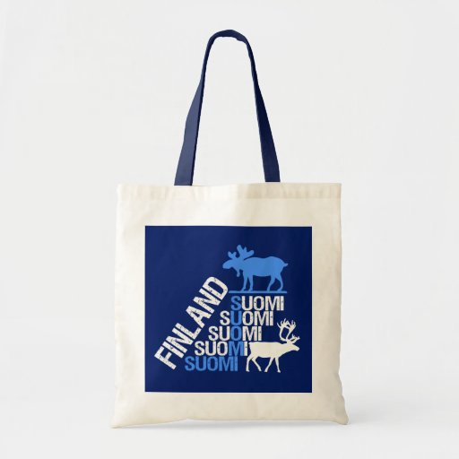 Finland Moose & Reindeer bag - choose style