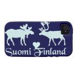 Finland Moose & Reindeer iPhone 4 Case-Mate