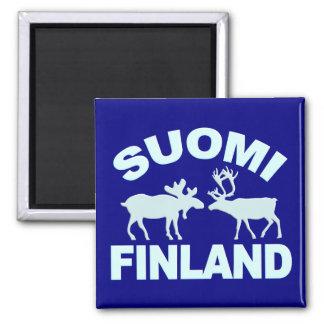 Finland Moose & Reindeer magnet