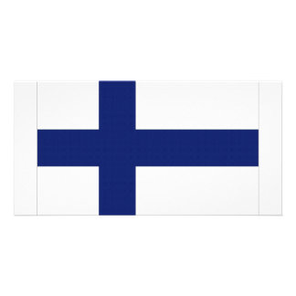 Finland National Flag Photo Greeting Card