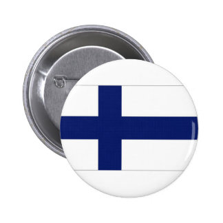 Finland National Flag Pinback Button