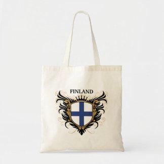 Finland [personalize] tote bags