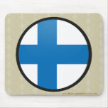 Finland quality Flag Circle Mouse Pad