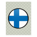 Finland quality Flag Circle Postcard