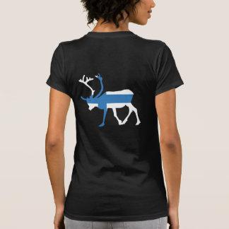 Finland Reindeer Back Women's T-shirt