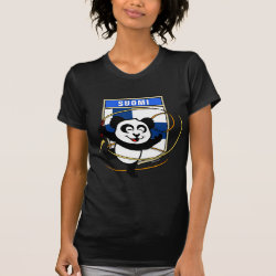 Women's American Apparel Fine Jersey Short Sleeve T-Shirt with Finland Rhythmic Gymnastics Panda design