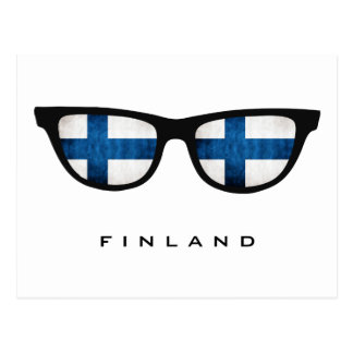 Finland Shades custom text & color postcard