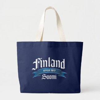 Finland Since 1917 Rev Large Tote Bag
