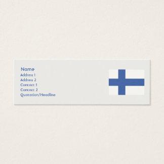 Finland - Skinny Mini Business Card