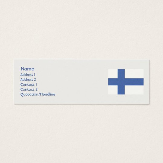 Finland - Skinny Mini Business Card