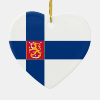 Finland State Flag Heart Ornament