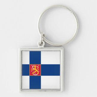 Finland State Flag Keychain