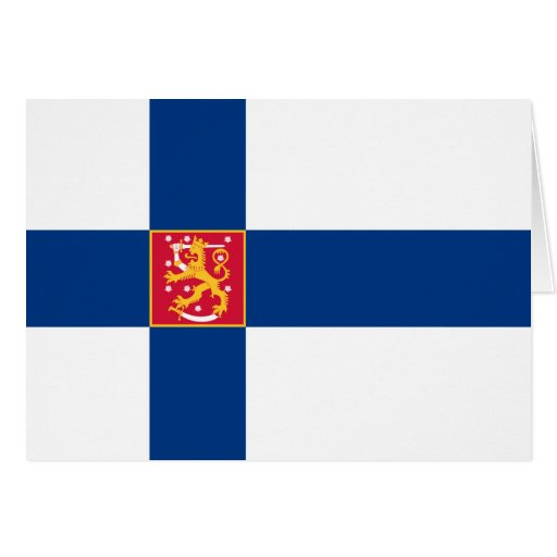finland state greeting card