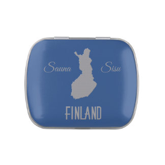 Finland tins & jars jelly belly candy tin
