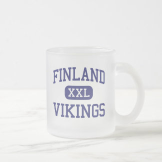 Finland Vikings Middle School Columbus Ohio Frosted Glass Coffee Mug