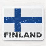 Finland Vintage Flag Mousepads