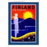 Finland Vintage Travel Poster Card