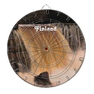 Finland Waterfall Dartboard With Darts